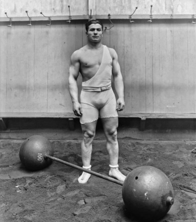 Ernest Cadine, a French Weightlifter and 1920 Olympic Champion in the two handed lift [6].